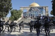 استقرار نظامیان صهیونیست مقابل مسجد الاقصی
