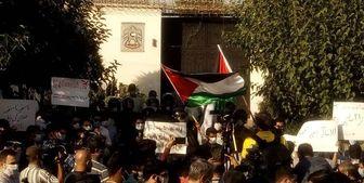 تجمع دانشجویان در اعتراض به توافق اسرائیل و امارات