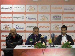 """حضور شریک """"کی روش"""" در نشست خبری قبل از بازی تونس"""
