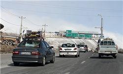 ترافیک نیمه سنگین صبحگاهی در آزادراه کرج