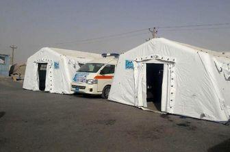بیمارستان صحرایی ارتش در مرز چذابه خوزستان برپا شد