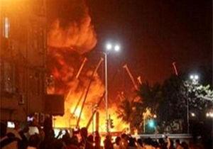 مرکز تجاری البشیر نجف در آتش سوخت