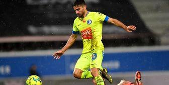میلاد محمدی در ترکیب اصلی خنت در لیگ فوتبال بلژیک