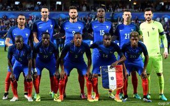 ترکیب رسمی فرانسه مقابل هلند