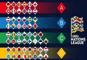 گروه بندی لیگ ملت های اروپا مشخص شد