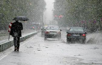 بارش برف و باران در تمام استان های کشور