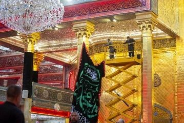 برچیده شدن رخت عزا از کربلا/ گزارش تصویری