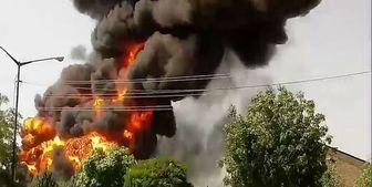 آتش سوزی در ساختمان اداری۴ طبقه در خیابان شهید مطهری تهران