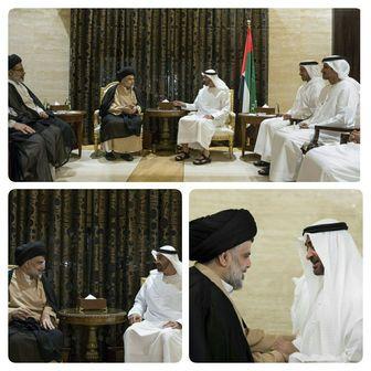 دیدار و گفتگوی رئیس جریان صدر عراق با مقامات اماراتی