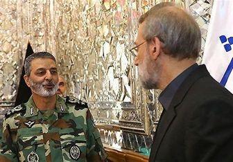 """فرمانده ارتش با لاریجانی """"درباره بودجه دفاعی"""" دیدار کرد"""