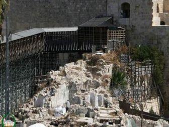 پل دسترسی یهودیان به مسجدالاقصی تخریب شد