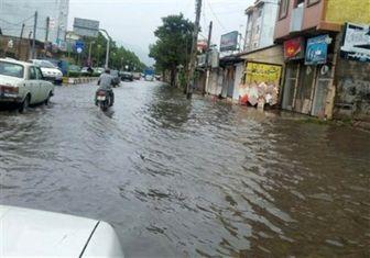 باران در لنگرود سیل شد+ تصاویر
