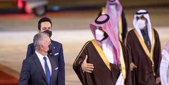 دیدار شاه اردن و ولیعهد بحرین با ولیعهد عربستان
