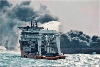 تصویری هولناک از انفجار نفتکش ایرانی در سانچی