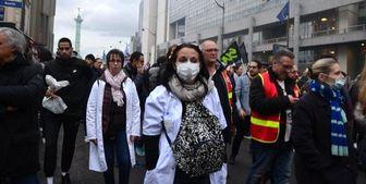خشونت پلیس فرانسه با پزشکان و پرستاران