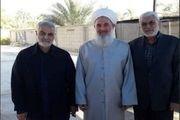 سردار سلیمانی با مفتی اهلسنت عراق دیدار کرد