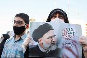 تجمع حامیان رئیسی در میدان ولیعصر(عج)/گزارش تصویری