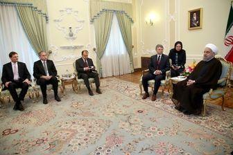 رایزنی پسا برجامی روحانی با رییس مجلس مجارستان