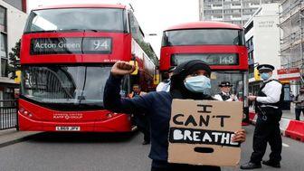 تظاهرات ضدنژادپرستی در لندن+ عکس