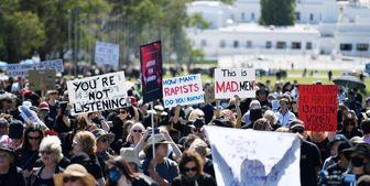 تجمع هزاران معترض به آزار جنسی زنان در استرالیا