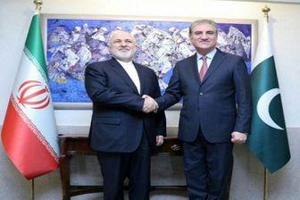 ظریف با وزیر امور خارجه پاکستان دیدار و گفتگو کرد