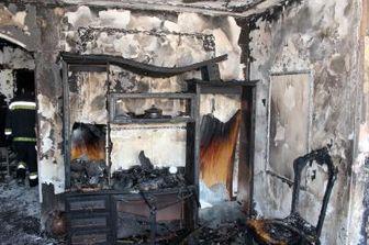 آتش سوزی در خیابان ۱۳ آبان + عکس