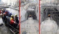 سقوط کارگر از طبقه منفی دو کارگاه متروی تبریز