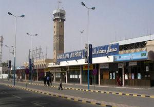 حمله متجاوزان سعودی به فرودگاه صنعا