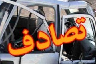 مصدومیت 5 نفر در پی تصادف دو خودرو پراید در آزادراه کرج - تهران