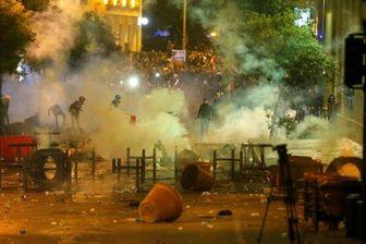 ادامه اعتراضات در بیروت