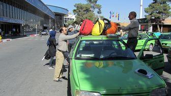 نابسامانی وضعیت تاکسی ها در فرودگاه مهرآباد