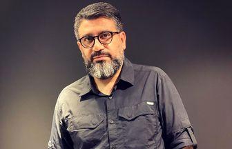 استایل خاص مجری محبوب در کنار حجت اشرفزاده /عکس