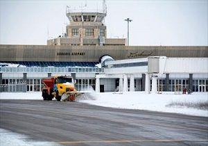 لغو پروازهای فرودگاه اردبیل به علت بارش برف