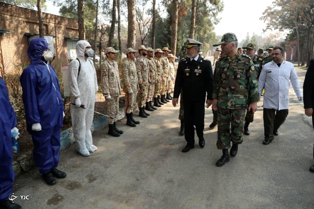 دفاع مقدس ارتش جمهوری اسلامی در مقابل دشمنی به نام کرونا + تصاویر