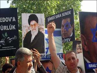 تظاهرات مردم ترکیه علیه آذربایجان + عکس