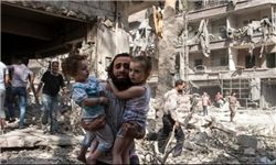 حمله خمپارهای تروریستها به مدرسهای در حلب+تصاویر