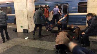 انفجار بمب نزدیک ایستگاه مترو در سنت پترزبورگ