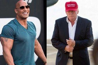 """""""راک"""" بازیگر مشهور هالیوودی؛ رئیس جمهور آینده آمریکا؟"""