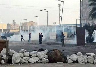درگیری جوانان بحرینی با نیروهای امنیتی بحرین/ عکس