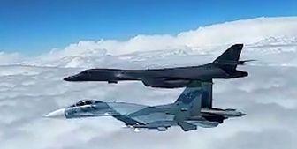 سوخو روسی هواپیمای آمریکایی را رهگیری کرد