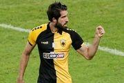 دبل کریم انصاری فرد در لیگ یونان