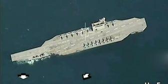 تمرین عملیات مقابله با ناو هواپیمابر آمریکا توسط سپاه +فیلم