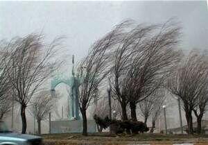 پیشبینی وزش باد شدید در تهران