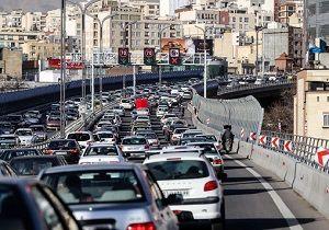 وضعیت ترافیکی معابر بزرگراهی پایتخت در نهم شهریورماه