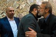 دیدار لاریجانی با معاون اول رئیس دفتر حماس/گزارش تصویری