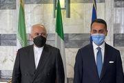 دیدار ظریف با همتای ایتالیایی خود