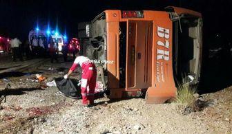 واژگونی مرگبار اتوبوس دانش آموزان هرمزگانی