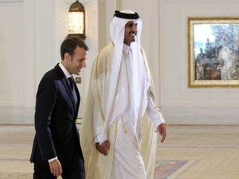 جزئیاتی از دیدار ماکرون و امیر قطر