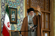 مقام معظم رهبری در اجتماع زائران و مجاوران حرم مطهر رضوی (ع)/گزارش تصویری