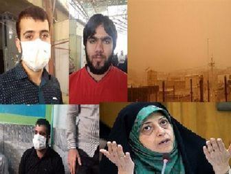 اعتراض نمازگزارن جمعه به آلودگی هوا